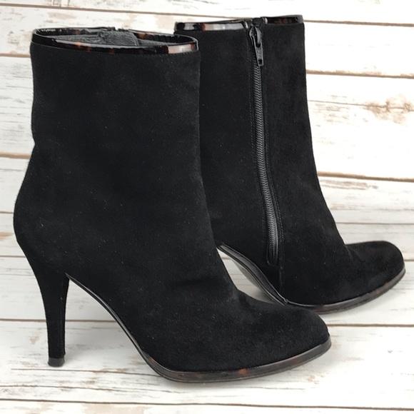 Stuart Weitzman Shoes - Stuart Weitzman Black Suede Ankle Boots